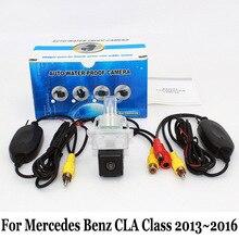 Вид сзади автомобиля Камера для Mercedes Benz cla класс C117 2013 ~ 2016/RCA проводной или Беспроводной HD широкий угол объектива Ночное видение Камера s