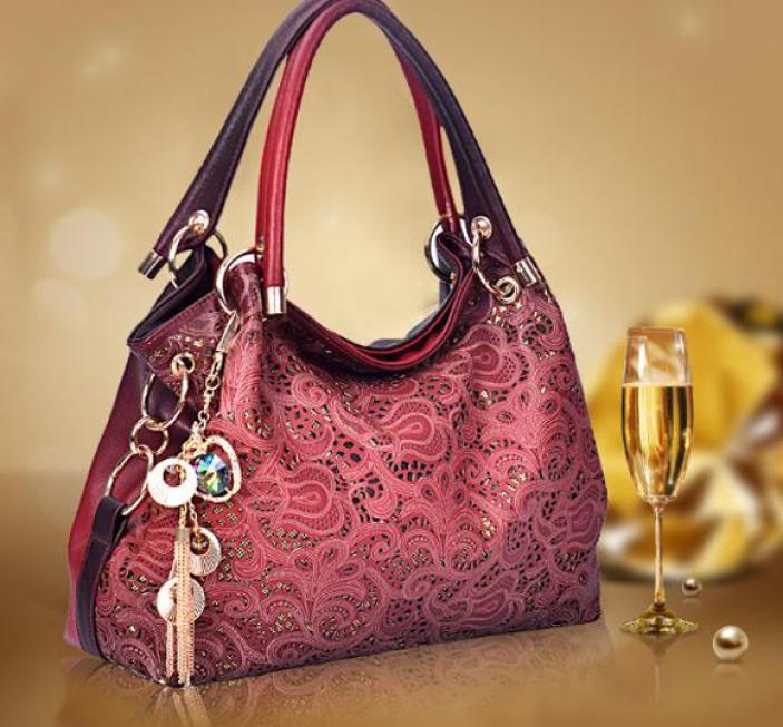 New European fashion women handbag Hollow out Vintage women messenger bags High quality elegant Pu women