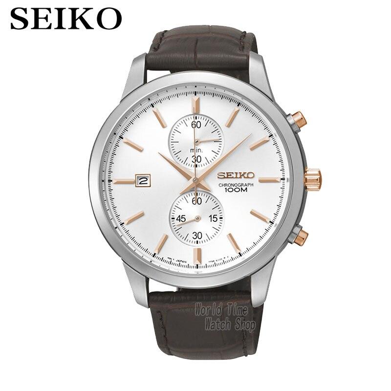 SEIKO montre chronographe montres à Quartz montres d'affaires ceinture décontractée montres SNN277J1
