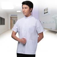 Dental Uniform Lab Coat Short Sleeves Medical Clothes