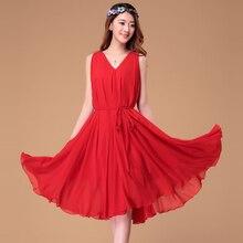 2015 Summer womens  sleeveless chiffon maxi dress bohemia Midi Beach Holiady Dress Plus sizes
