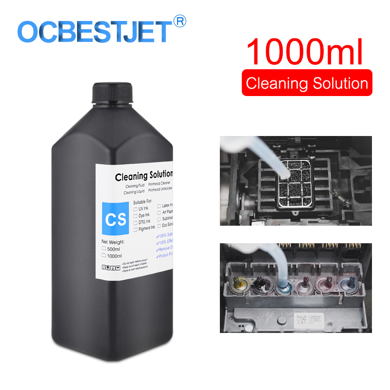 1000ML UV Cleaning Liquid For Epson Roland Mimaki UV Modified Printer Cleaning Fluid Printhead Cleaning Solution UV Ink Cleaner|Ink Refill Kits|Computer & Office - title=