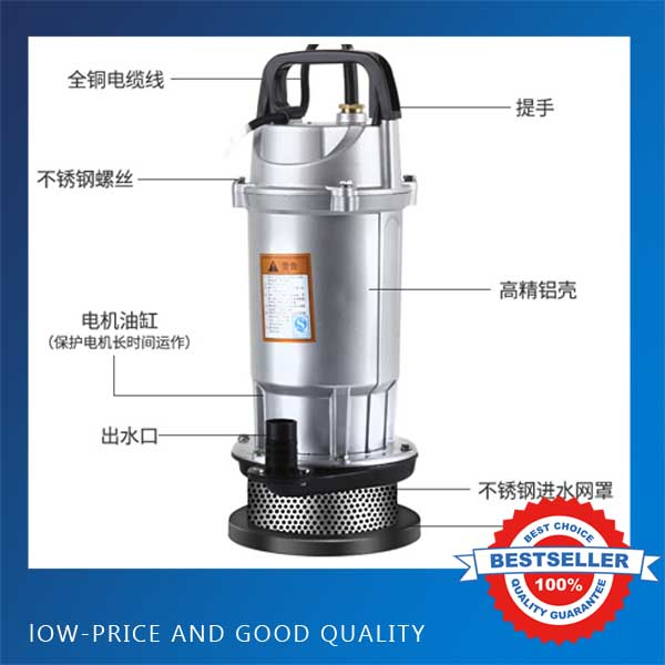220V/50Hz Electric Submersible Water Pump 750W-1500W Portable Clean Water Pump For Agriculture