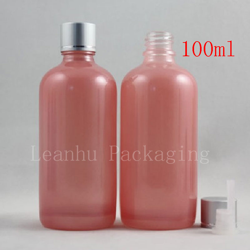 100ml Empty Essential Oil Pink Glass Bottles ,100CC Massage Oil Glass Container Reducer ,Cosmetic packaging Glass Bottle 30 ml clear glass dropper essence oil bottles emulsion cosmetics packing bottle 30 cc of essential oils packaging container