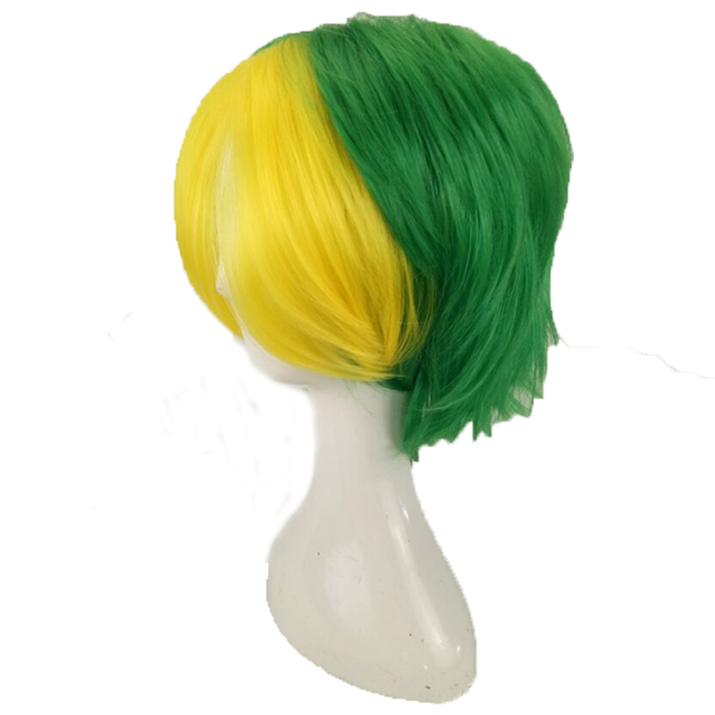 HAIRJOY Synthetic Hair Man Mint Green Layered Short Straight Male Cosplay Wig Free Shipping 5 Colors Available 62