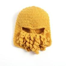 Squid caps hand-knit wool hat adult octopus beard wool  Cap Hat funny skullies Hat B X-07
