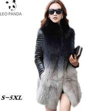 Зимняя женская куртка из искусственного лисьего меха, женское длинное пальто, новая осенняя верхняя одежда, меховые жилеты, модная Роскошная куртка с отстегивающимися рукавами