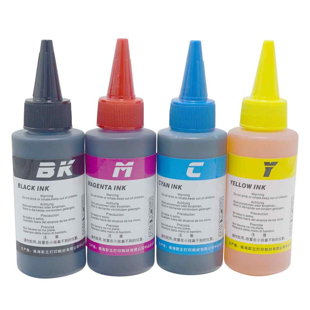 Ru CK 4 PC 100 Ml Botol Tinta Isi Ulang Kit Tinta Kompatibel untuk Printer Epson Canon HP Saudara Lexmark Delll tinta Printer