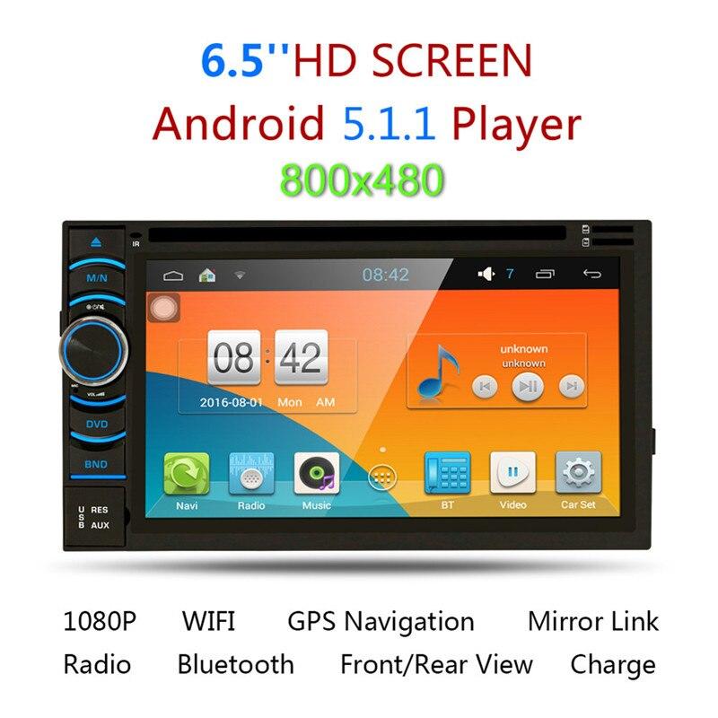 "imágenes para 2Din 6.5 ""HD Android 5.1 Pantalla Táctil Capacitiva de Cuádruple Núcleo Reproductor de DVD Del Coche de Navegación GPS Bluetooth WIFI 3G Admite MirrorLink"