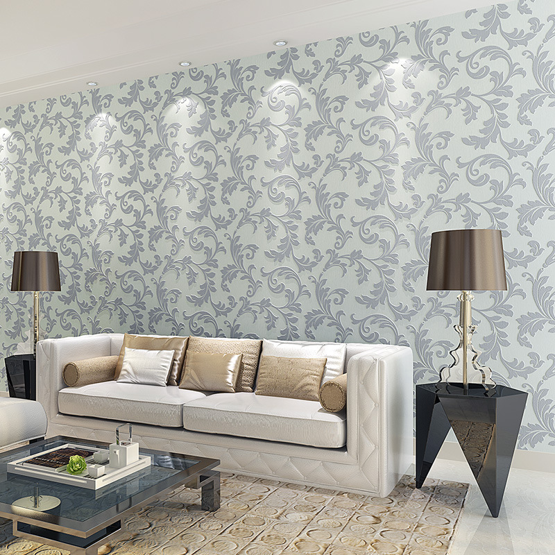 3d embossed non-woven Wallpaper living room sofa TV background wall paper wallpaper bedroom luxury Continental European style