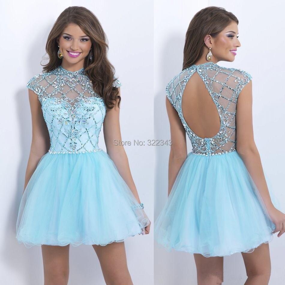 Light Blue Short Homecoming Dresses