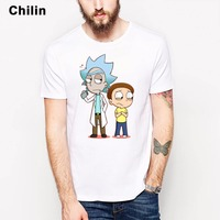 Rick And Morty Tshirt MEN Gildan Brand New White Casual T Shirt Homme Comfortable Plus Size