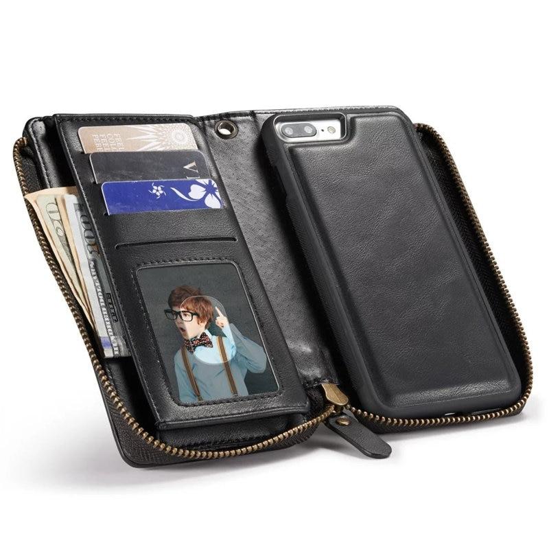 Di 2 brown red Olivemoon Multifunzionale Del Black Plus 1 Borsa Il Raccoglitore Della Cuoio Sacchetto Staccabile 8 In Iphone 7 X Copertura Per Telefono 6 gOCqIwxrqS