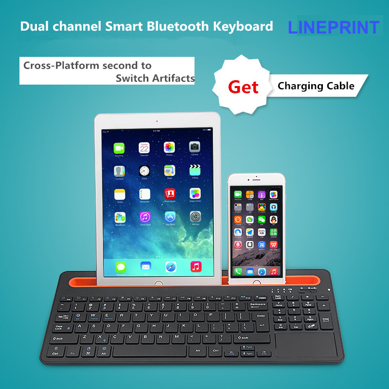 цена на 2016 Fashion Touch Panel Bluetooth keyboard for 12 inch Chuwi HI12 stylus tablet pc for Chuwi HI12 keyboard