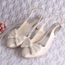 Wedopus Закрытым Носком Сандалии для Женщин Свадебные Туфли Свадебные Италия Стиль Сандалии от Двери до Двери