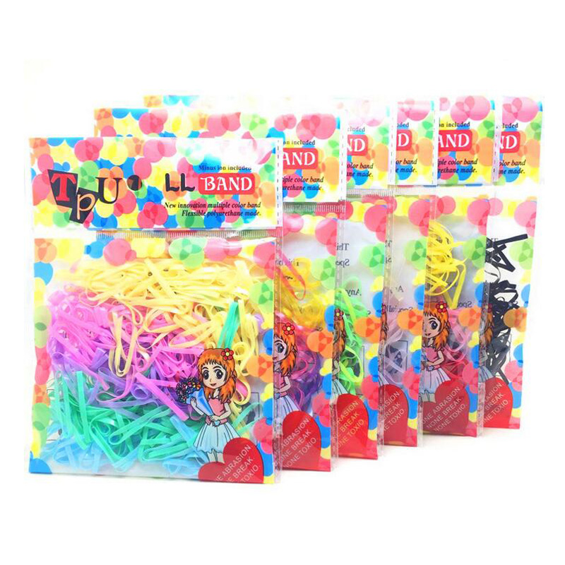 Lot 160pcs/bag Child Baby TPU Hair Holders Rubber Bands Elastics Girl's Tie Gum Rope Ponytail Holder 10pcs candy fluorescence color elastic rubber gum hair bands ponytail holders for gils women hair accessories hair ties headband