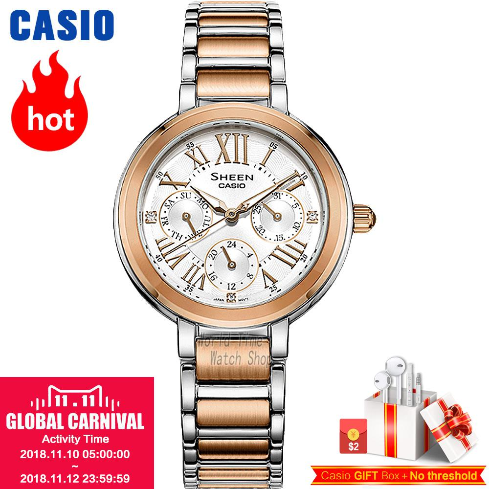 Casio watch Fashion business urban women table SHE-3034SPG-7A SHE-3034D-7A SHE-3034GL-4A SHE-3034GL-7B SHE-3034SG-7A женские часы casio she 3034gl 7a