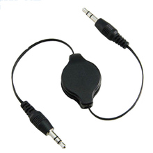 Ascromy Stereo 3.5mm to 3.5 Jack Car Audio Flexible Extension Cable Male Retractable Aux Music Line for iphone 6 plus 5 6S LG G3