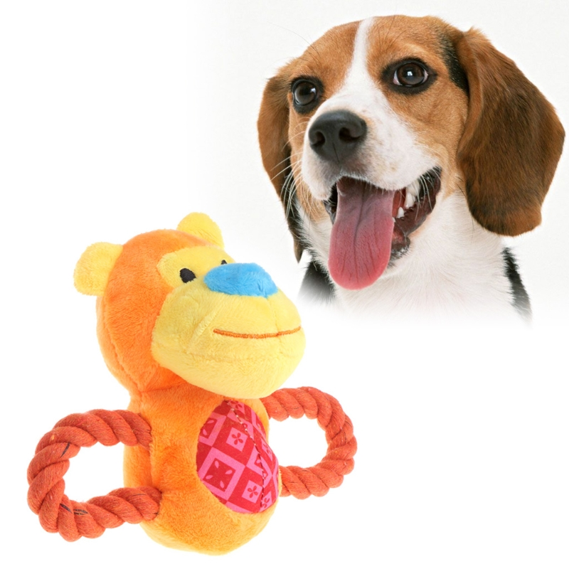 Pet Toy Cat Dog Squeaker Puppy Plush Animal Shape Cow Monkey Funny Sound Gift