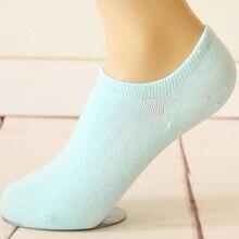 Детские хлопковые носки, мелкие носки, дамы невидимые носки, силиконовые Нескользящие носки, хлопковые носки-50 пар