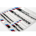 2 x Car Accessories ///M Performance Power Motorsport Car Stickers And Decals Kit For BMW M X1 X3 X5 X6 e60 e39 e46 e36 e90 f30