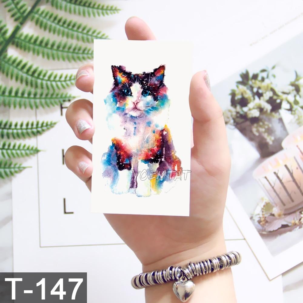 Planet Cat Temporary Tattoo Sticker For Women Men Kid Fashion Body Art Adults Waterproof Hand Fake Tatoo 10.5X6cm