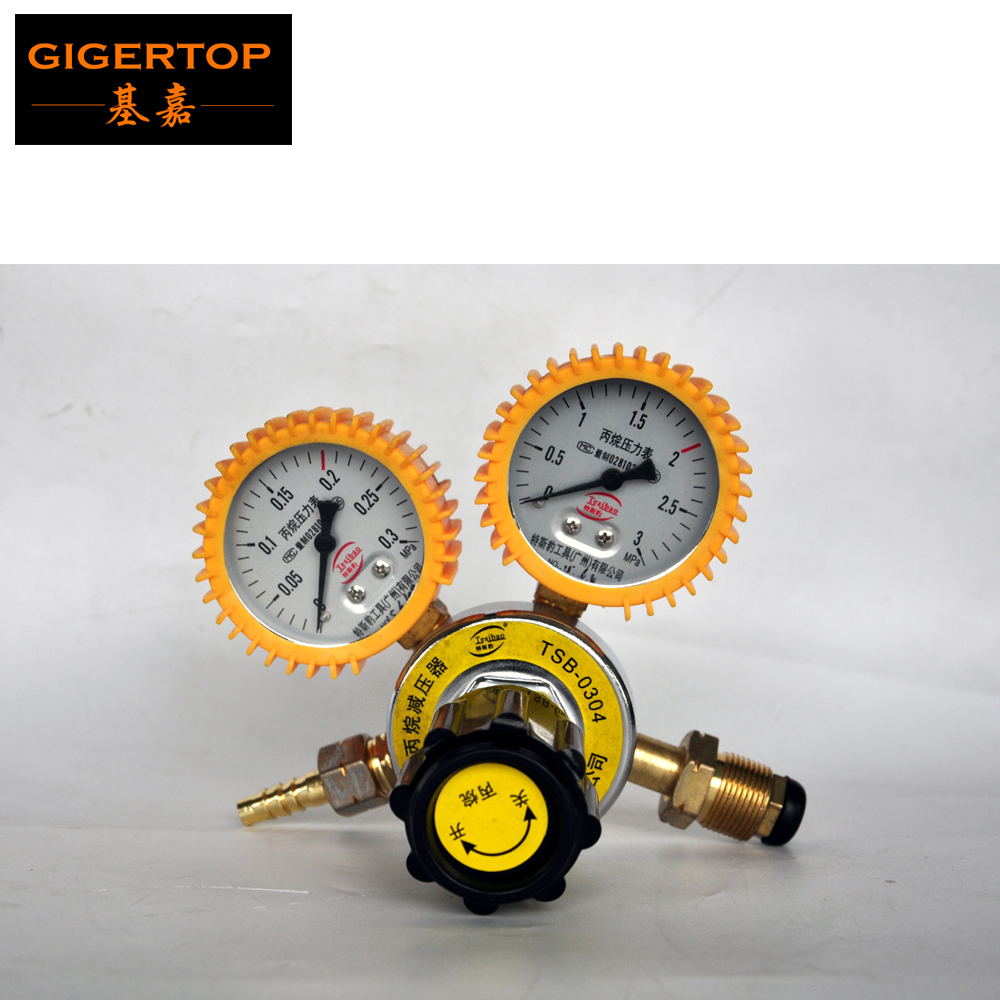 TIPTOP TSB-0304 LPG Fire Machine Gas Tank Pressure Controller/Reducer oxygen/C02/acetylene/propane pressure Gauge for European shock oxygen table flow meter gas argon ar co2 o2 oxygen acetylene regulator welding with pressure gauge argon pressure reducer