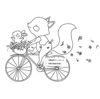10 #215 10 lisa jazda na rowerze przezroczysty przezroczysty pieczęć silikonowa uszczelka do album na zdjęcia DIY do scrapbookingu dekoracyjne jasne pieczęć tanie i dobre opinie Standardowy znaczek RUBBER OLOEY craft