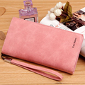 New Fashion Matte Leather Wallet Long Women's Clutch Bags Retro Style Business Card Holder Coin Purse Lady Leather Clutch Wallet
