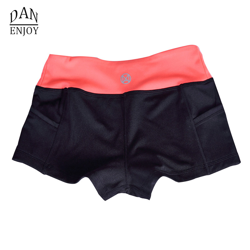 2018 New Running Shorts Women Patchwork Leggings Yoga Tight Gym Sports Suck Sweat Shorts For Yoga Linen Strech E003 Z50