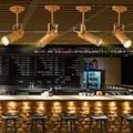 прожектор и фонь Лофт Творческий промышленного ветер кафе потолочный светильник ресторан личность светодиодные светильники потолочные ма...