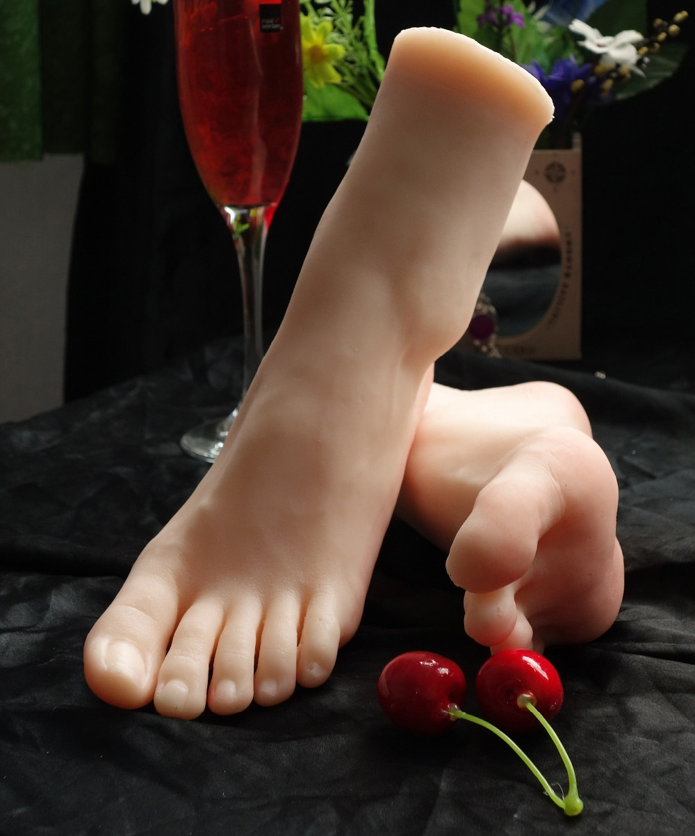 New Sex Toy,Feet Fetish Toys for Man,Young Girl Lifelike Female Feet, Sex Product ,Feet Model for Sock Show 37 Size top quality new sex products soft feet fetish toys for man young girl lifelike female feet fake feet model for sock show