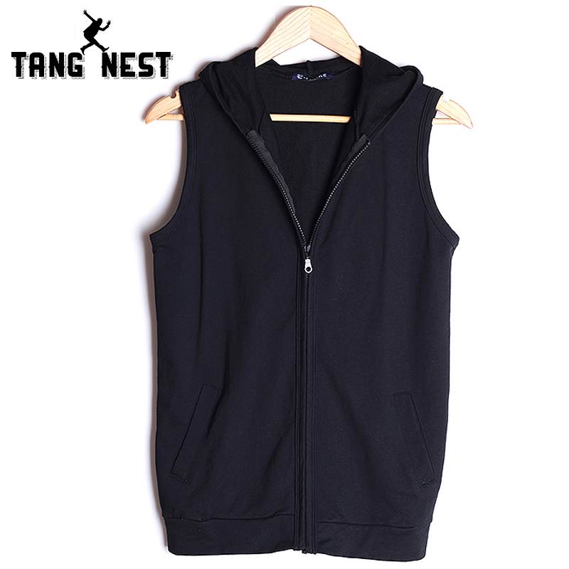 Vestsamp; 2019 All Matched tangnest Color Casual Vest Hombre Slim Male Mwb240 Soft 21 Chaleco 49Off Men Us16 Hooded Thin In Solid lK1JFc