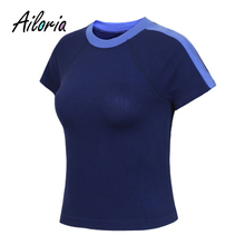 Ailoria 2018 Summer Women Shirts Clothing for Sporting Fitness Short Sleeve Summer T Shirt Exercises Quick Dry Tees Female Tops
