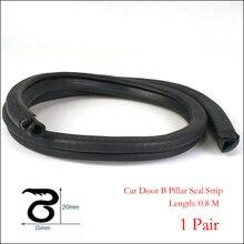0.8M Car Door B Pillar Seal Strip Car Weatherstrip Motor Van Boat Door Rubber Seal Sealing