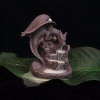 Dragon Pterosaurs Back Flow Reflux Incense Burner Home Decor Ceramics Ornament Incense Base 20PC Sandalwood