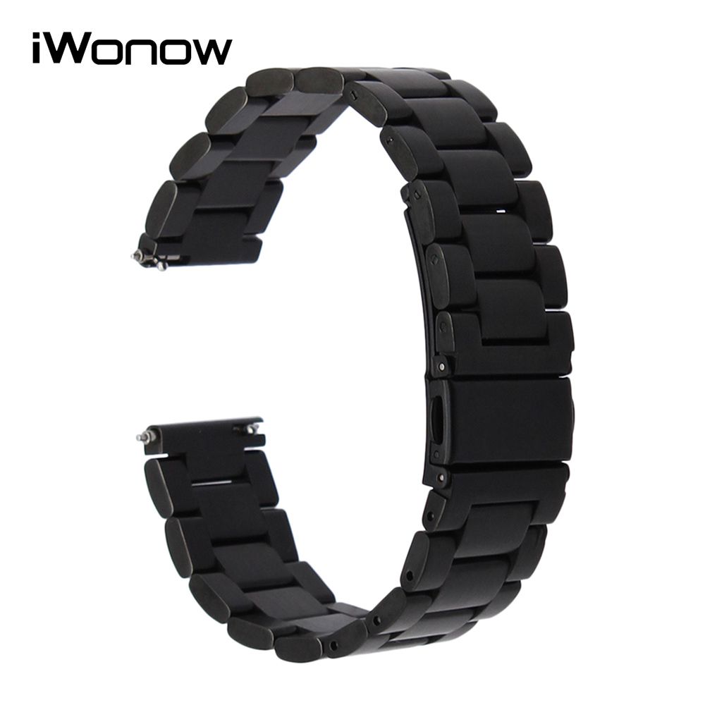 Quick Release Stainless Steel Watch Band Wrist Strap for Moto 360 2 42mm Men Gear S2