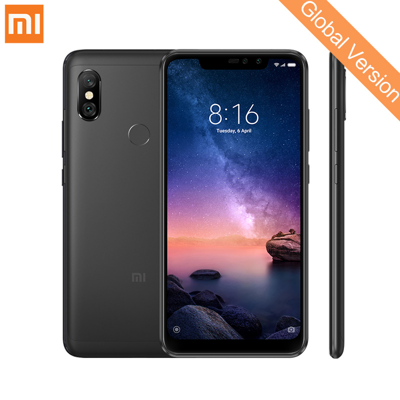"Global Version Xiaomi Redmi Note 6 Pro 3GB 32GB Smartphone Snapdragon 636 Octa Core 6.26"" Full Screen 12MP+5MP AI Dual Camera"