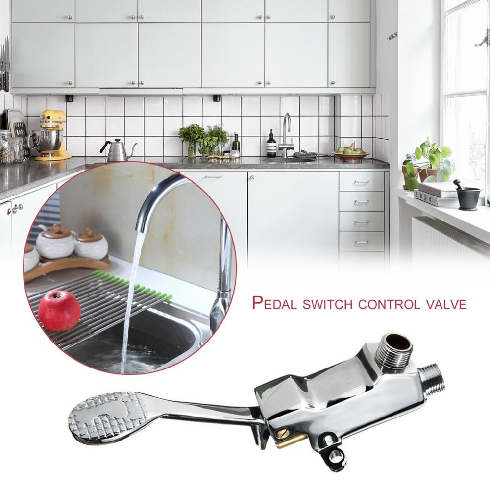 on have automatic operated pedal bath plumbing fit faucets space foot systems cabinetbath or install pedals existing in htm new steel sink toe stainless that under the dlxbathstainlesssteel any connections our standard faucet