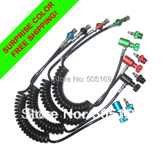 PCP Shooting Paint Accessories Coil Remote Hose Thick Line 2.5 WITH Slide Check Surprise Color Paintball New