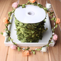 Cane Vine Green Leaves Rattan 200m Home Wedding DecoArtificial Garland Wire