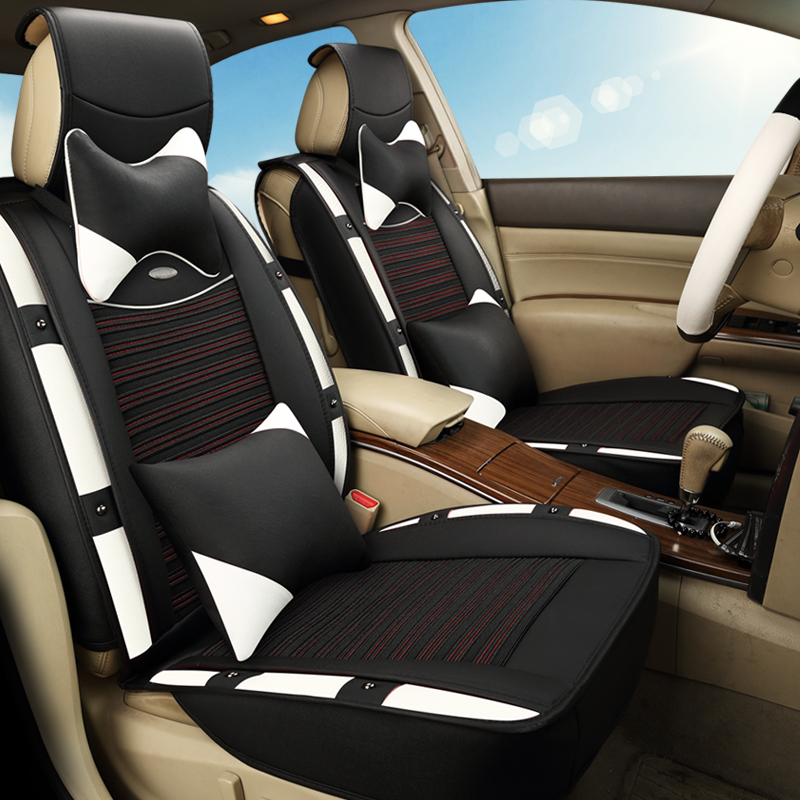 3D Sports Car Seat Cover Cushion Ice Silk For Cadillac ATS CTS XTS SRX SLS Escalade,High-fiber Leather,