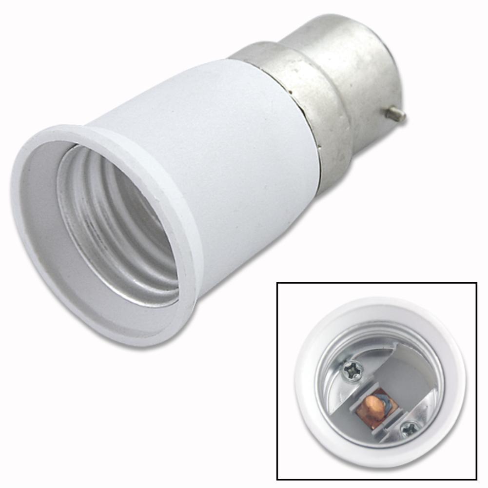 Lights & Lighting Tsleen 1pcs Big Promortion B22 To E27 Base Led Light Lamp Bulb Fireproof Holder Adapter Converter Socket Change Modern Design