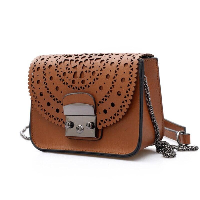 Мода 2017 г. маленькая сумка Для женщин Курьерские сумки из мягкой искусственной кожи выдалбливают Crossbody сумка для Для женщин Клатчи Bolsas femininas ...