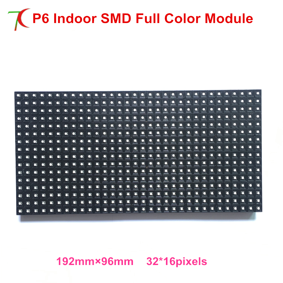 Customizable 192mm*96mm P6 Indoor  Full Color Led Module Smaller Size Led Panel Led Display