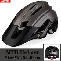 Kingbike capacete da bicicleta ciclismo de titânio das mulheres dos homens capacete mtb com viseira de sol lanterna traseira estrada montanha ao ar livre ciclismo capacete|Capacete da bicicleta| |  -