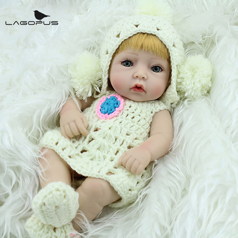 10 Inch Mini Baby Reborn Girl Doll Full Body Silicone Mini Alive Dolls Sweet Dreams Bedtime Toys For Children