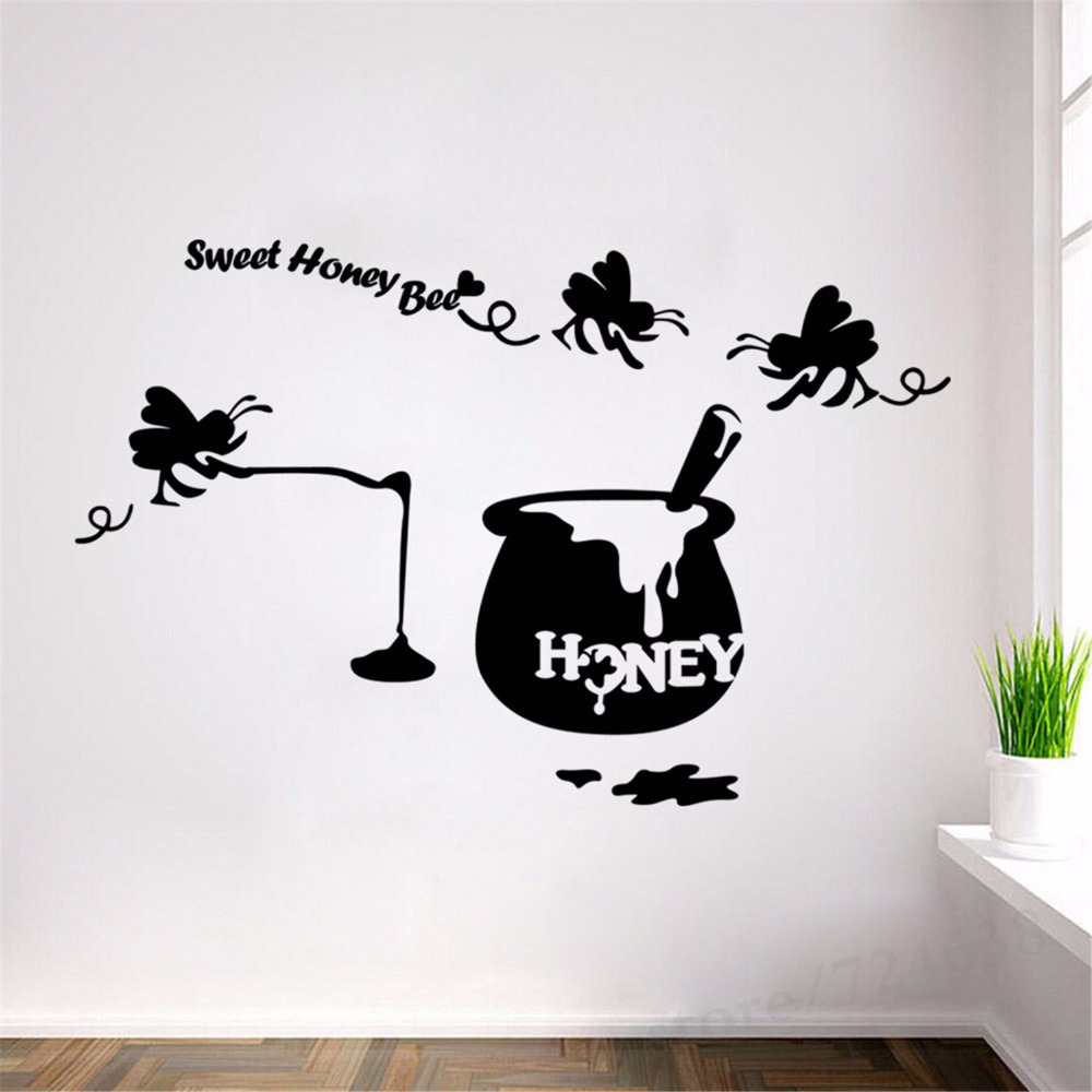 Aliexpresscom Buy New Modern Creative Sweet Honey Bee Wall - Lego wall decals vinylaliexpresscombuy free shipping lego evolution decal wall