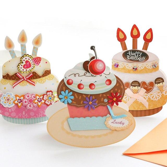 1 pcs beautiful birthday cake diy 3d folding card greeting card 1 pcs beautiful birthday cake diy 3d folding card greeting card birthday greetingmessage card bookmarktalkfo Choice Image