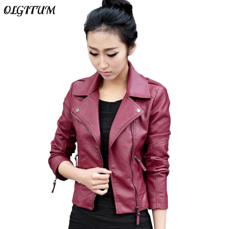 XS 4XL Hot Sale 2019 New Women Spring Autumn Jacket Black Red Fashion Female Coat Slim Innrech Market.com
